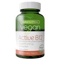 Naturopathica Vegan Active B12 60 Chewable Tablets
