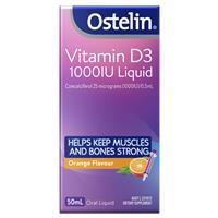 Ostelin Vitamin D3 1000IU Liquid – Vitamin D – 50mL