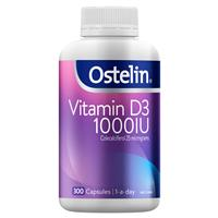 Ostelin Vitamin D3 1000IU – Vitamin D – 300 Capsules Exclusive Size