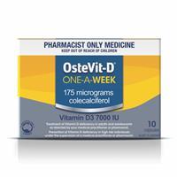OsteVit-D Vitamin D3 7000iu 1 A Week 10 Capsules