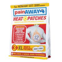 Pain Away Heat Patches XL 3 Pack