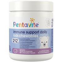 Pentavite Immune Support Daily Kids 60 Chewable Tablets