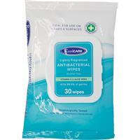 Real Care Antibacterial Wipes 30 Pack
