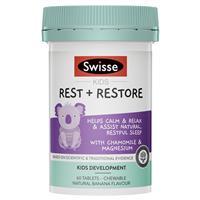 Swisse Kids Rest & Restore 60 Tablets