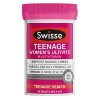 Swisse Teenage Ultivite Women's Multivitamin 60 Tablets