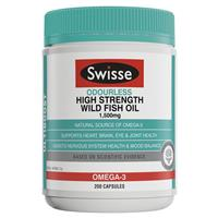 Swisse Ultiboost Odourless High Strength Wild Fish Oil 1500mg 200 Capsules