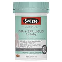 Swisse Ultinatal DHA + EPA Liquid for Baby 60 Capsules