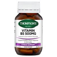 Thompson's B5 Pantothenic Acid 500mg 60 Tablets