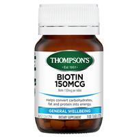 Thompson's Biotin 150mcg 100 Tablets