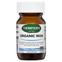 Thompson's Organic Iron 24mg 30 Tablets